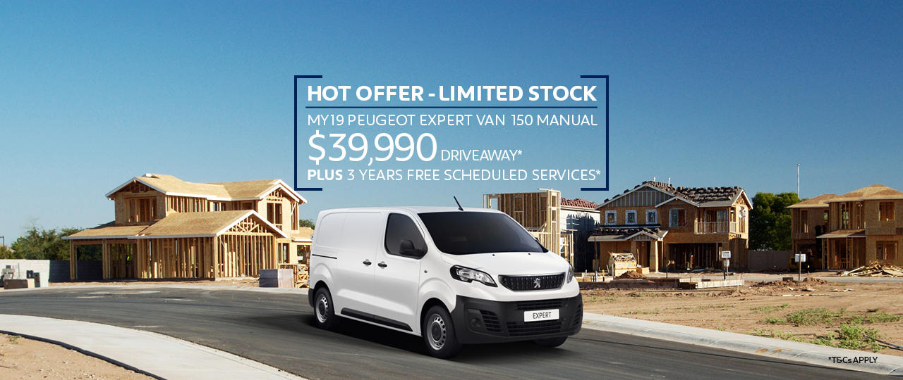 HOT OFFER on the MY19 Expert Van